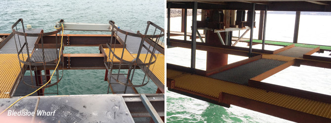 FRP Grating used in marine environment