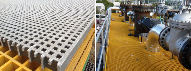 FRP Grating with non-slip surface